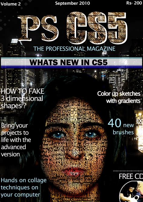 magazine cover with typography by hitpardeshi on deviantart