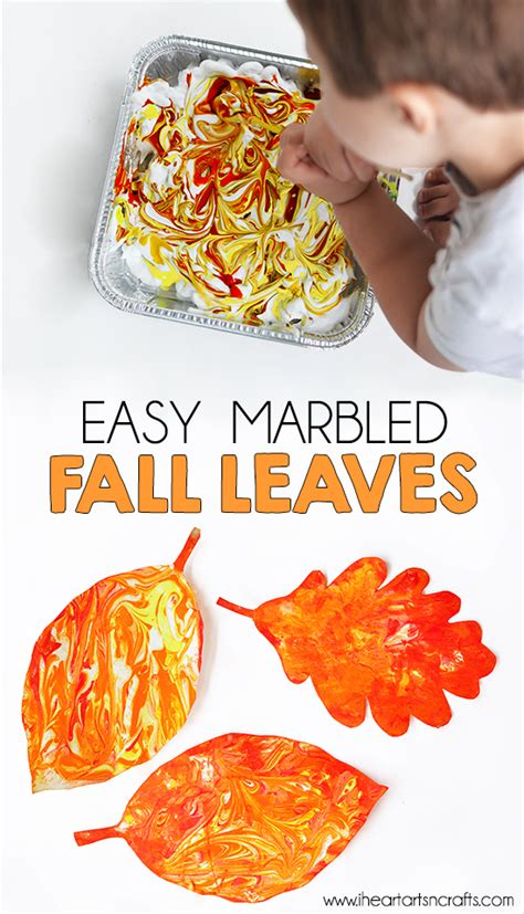 easy marbled fall leaves fall easy fall 621 | c879cad80e409c52a035d102f827d87f