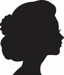 Clipart - Female Head Profile Silhouette 2