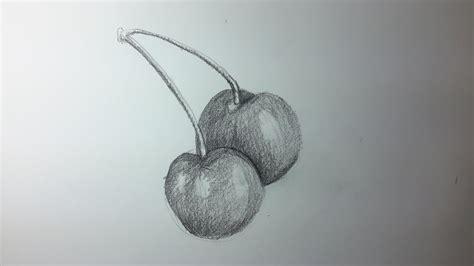 Como dibujar cerezas a Lapiz paso a paso El Dibujante