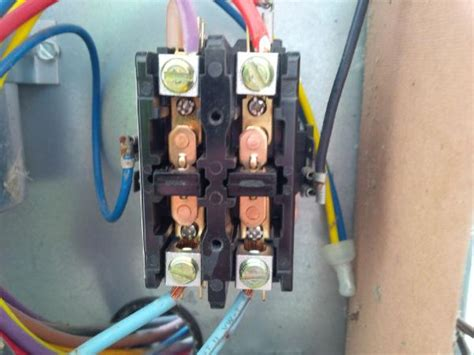 1 pole contactor to 2 pole contactor doityourself community