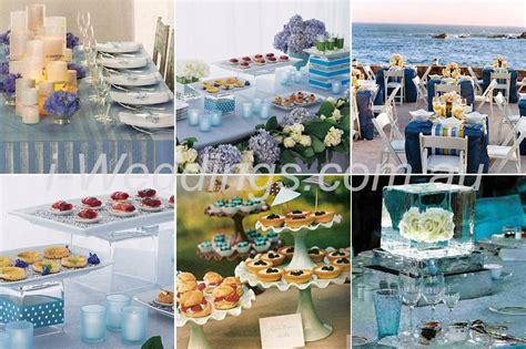 i weddings reception ilovethese blue table setting ideas