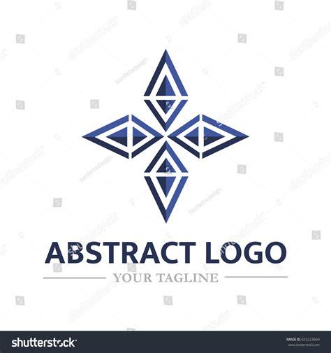 abstract logo form flower vector logo stock vector