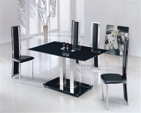 jet glass dining table and 6 chairs glass dining table