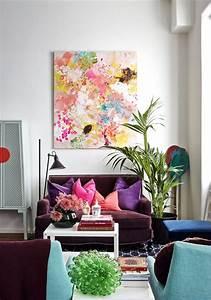 idee deco petit salon maximiser lespace a laide daccents With tapis chambre bébé avec livraison fleurs mariage aquarelle