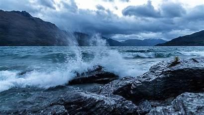 4k Ocean Sea Wave Rocks 5k Nature