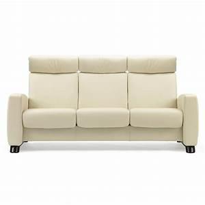 3 Sitzer Sofa : stressless sofa 3 sitzer arion m hoch vanilla schwarz ~ Frokenaadalensverden.com Haus und Dekorationen