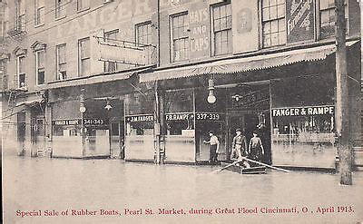 Boat Auctions Cincinnati Ohio by 1913 Sale Of Rubber Boats Pearl St Market Great Flood