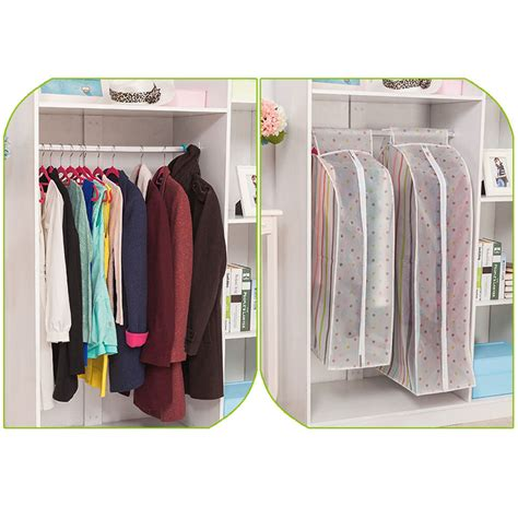 Wardrobe For Hanging Clothes by Hanging Garment Suit Coat Clothes Dust Cover Protector