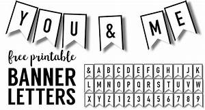 Banner Templates Free Printable ABC Letters - Paper Trail