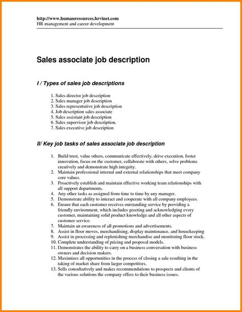 Free Resume Builder With Descriptions by 9 Retail Manager Description Introduction Letter