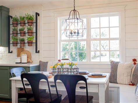 kitchen nook lighting how to use shiplap in every room of your home hgtv s