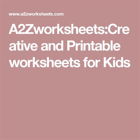 azworksheetscreative  printable worksheets  kids