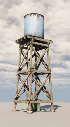 build wood water tower  model  wooden water tank