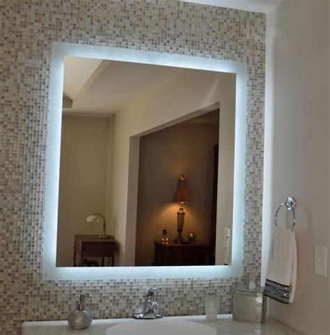tall vanity mirror with lights our mam94044 side lighted mirror 40 quot wide x 44 quot tall
