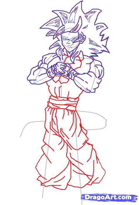 hoe  draw goku super saiyan  step  step dragon ball