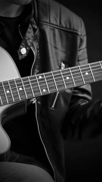 Guitar Guy Iphone Dark Classical Bw Nc11