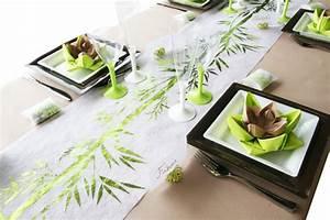 Set De Table En Bambou : nouveau chemin de table bambou decoration mariage ~ Premium-room.com Idées de Décoration