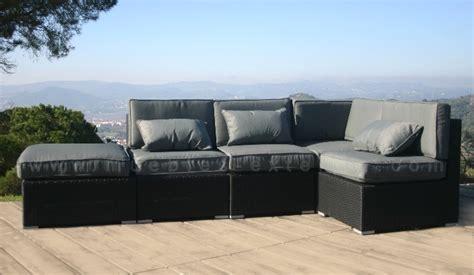 sofa lounge terraza sof 225 s de jard 237 n y muebles de exterior rattan negro