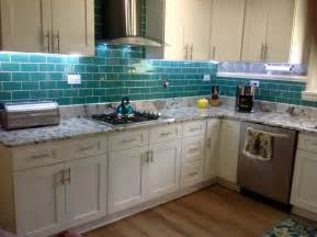 Green Backsplash Kitchen Emerald Green Glass Subway Tile Kitchen Backsplash Subway Tile Outlet