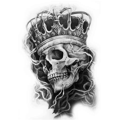 tatoo temporaire king skull