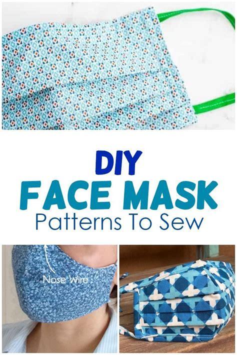 diy face mask patterns  sew  lot  helpful info