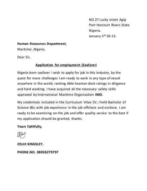 Application Letter For A Job Vacancy In Nigeria | aesthetic name