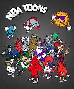 Cartoon NBA Logos