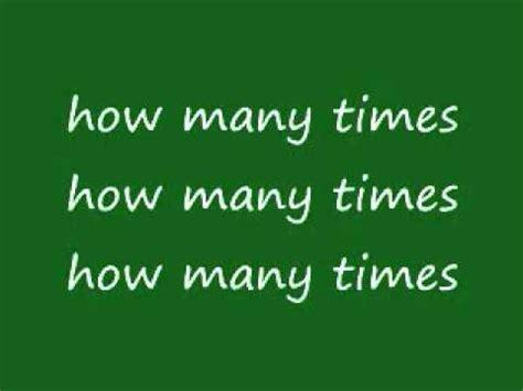 Kmichelle How Many Times (lyrics) Youtube