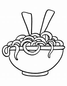 Drawn pasta coloring page - Pencil and in color drawn ...