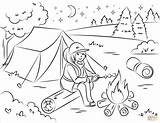 Campfire Coloring Marshmallow Template Roasting Templates sketch template