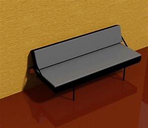3d cad models available for download With wall mounted sofa bed