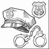 Coloring Sheriff Police Printable Officer Getcolorings Wondrous sketch template