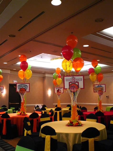 Basketball Centerpieces  Basketball Themed Party Events