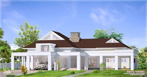 Single Floor Luxury Bungalow Elevation  Home Kerala Plans