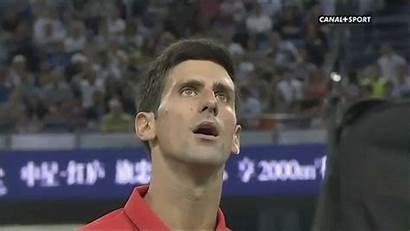 Novak Djokovic Snap Chair Umpire Win Bringing