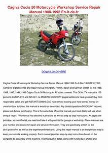 Cagiva Cocis 50 Motorcycle Workshop Service R By