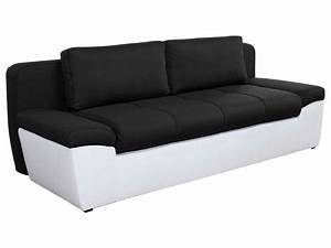 canape convertible 3 places en tissu uno coloris blanc With conforama canape convertible 3 places