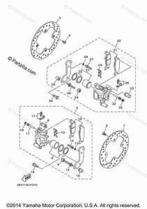 Yamaha Atv 2009 Oem Parts Diagram For Rear Brake Caliper