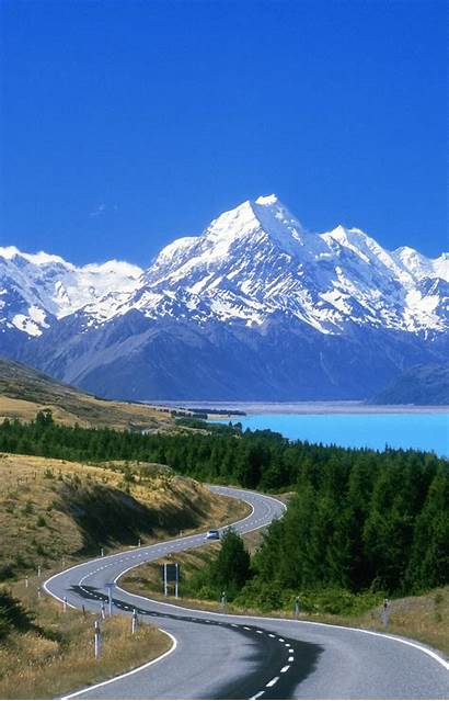 Zealand Scenery Road Scenic Auckland Mount Cook