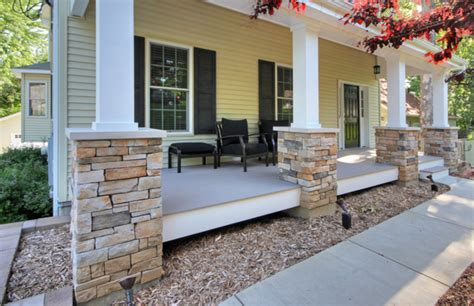 Rock Columns Porch by The Basics Of Repairing Wood Columns Mosby Building Arts