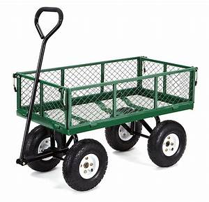 Gorilla Carts Steel Utility Cart w/ Removable Sides $55.05 ...