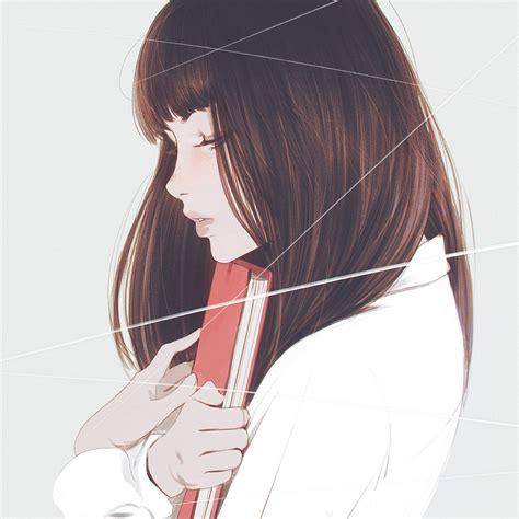 Anime Picture Original Kr0npr1nz Long Hair Single Brown