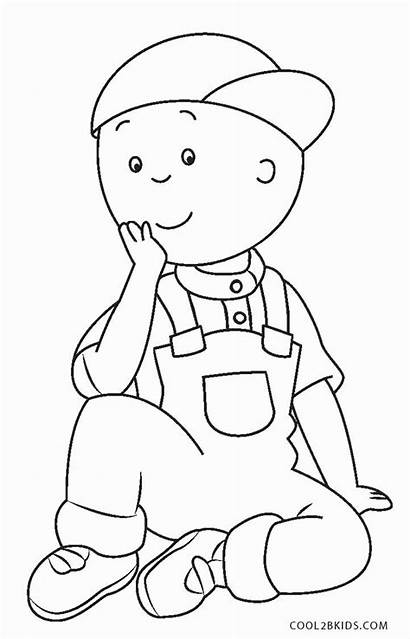 Coloring Pages Caillou Printable Books Sheets Toddler