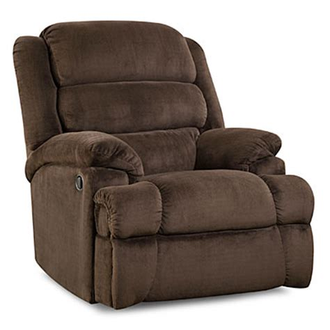 recliners for big and stratolounger 174 samson chocolate big one recliner big lots