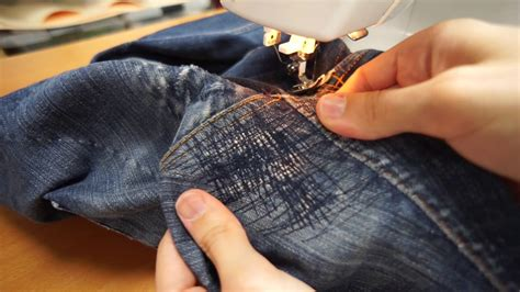 How To Mend Your Jeans  Crotch Area Youtube