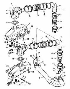 Yamaha Sterndrive Parts V8 5 7 Engine Yems 1989 Oem Parts Diagram For Exhaust System
