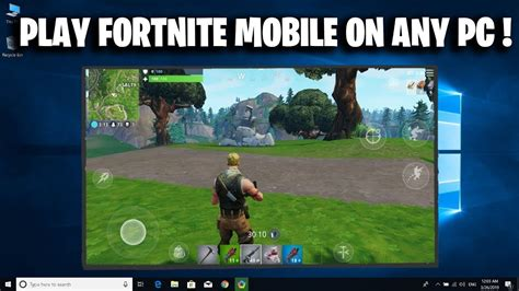 play fortnite mobile  pc