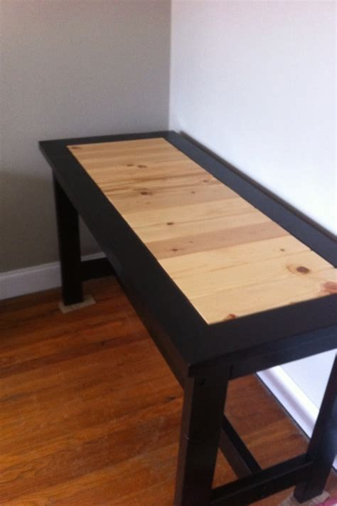 ana white  casual desk tweaked diy projects