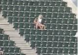 Couple sex upper deck baseball stadium